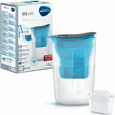BRITA Fun Water Filter Compact Fridge Jug and MAXTRA+ Plus Cartridge Refill Blue