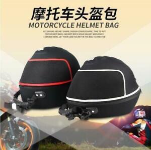 Universal Racing Rally Black Motorcycle Bike Red Helmet Bag Head Race