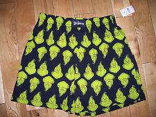 Dr. Seuss The Grinch Face Logos Men's Boxer Size S Small (28 - 30) Nwt