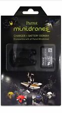 Parrot 550 mAh Battery and Battery Charger for Mini Drones