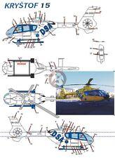Peddinghaus 1/72 EC135 T2 Czech Rescue Helicopter OK-DSB DSA (Krystof 15) 2298