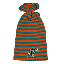MLB Florida Marlins Striped Two Tone Knit Beanie Toque Old Logo Vintage Winter