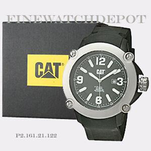 Authentic Caterpillar Men's Black Dial Analog Quartz Watch P2.161.21.122