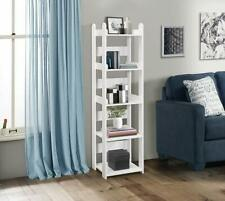 Kings Brand Furniture 5-Shelf Bookcase Bookshelf, Storage Shelving Unit, White