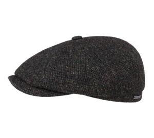 Stetson 100% Wool Bakerboy/Newsboy Cap 6840106 In Black or Navy
