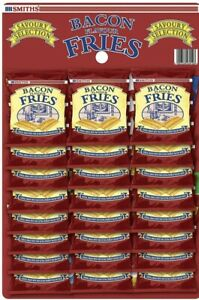 Smiths Bacon Fries Carded Pub Snacks 24g - Pack of 24
