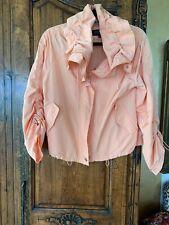 Escada Sport Peach Zip Jacket Mesh Lined Size 38(small)