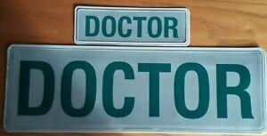 AMBULANCE SERVICE DOCTOR REFLECTIVE BADGE SET