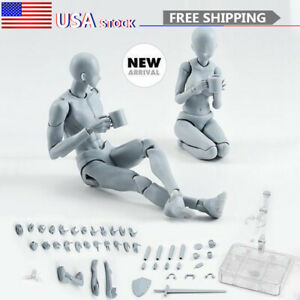 US Drawing Figures For Artists Action Figure Model Mannequin Man / Woman Gray