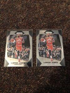 2017-18 Panini Prizm Lebron James 2 Card Lot!!!