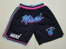Vintage Shorts Miami Heat Black All Sewn Size S-2XL new