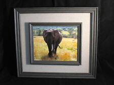 "African Elephant Photo Framed 8""x10"" Photo Mounted/Wood Frame for sale by Artist"