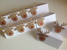 Large Reindeer Christmas Wine Glass Decoration Christmas Party Name Place Cards