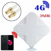 LTE SMA Antenna Booster Amplifier Panel 35dBi Gain Signal for 4G 3G Router
