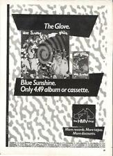 CURE - The Glove Blue Sunshine (HMV) UK magazine ADVERT / mini Poster 11x8""
