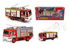 BUBBLE FIRE ENGINE TRUCK Emergency Service Fireman Electric Toy Lights Sounds