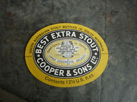 OLD AUSTRALIAN BEER LABEL, COOPERS BEST EXTRA STOUT 12 Oz US