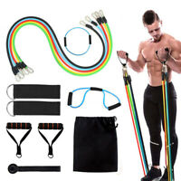 13pcs/Set Of Resistance Bands Workout Exercise Yoga Crossfit Fitness Train Tubes