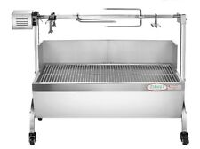 Stainless Steel Charcoal BBQ Roaster, Outdoor Pig/Lamb/Chicken Rotisserie