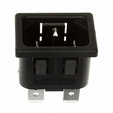Pack of 10 - Bulgin IEC Panel Snap Fit Connector PX0575/15/63,INLET, IEC