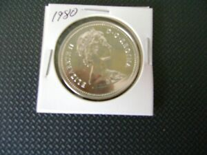 1980 CANADIAN SILVER PROOF DOLLAR COIN