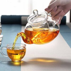 Uncommon Gas Stove Teapot Set Heat Resistant Infuser Double Wall Glass Kettle