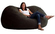 Big Joe Fuf Comfort Suede In Black Onyx Super Spongy Fuf Chair 0000178 New