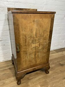 Antique Art Deco Walnut Bedside Cabinet . Delivery Available Most Areas