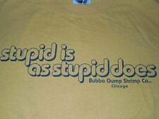 Bubba Gump Shrimp Co. Chicago Stupid Is As Stupid Does T-Shirt Original Adult L