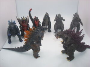 LOT OF 8 Godzilla King of the Monsters Space Godzilla  Action Figures