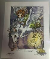 "JODY BERGSMA ""If you Imagine It"" Pegasus Print Matted Signed Limited 2381/7500"