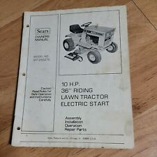 """Sears Craftsman 10 HP 36"""" Lawn Tractor Riding Mower Owner's Manual 917 255275"""