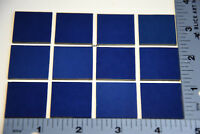 "0114.30-25 OPALESCENT COBALT BLUE 1/"" x 1/"" 3mm THICK BULLSEYE GLASS 90 COE"