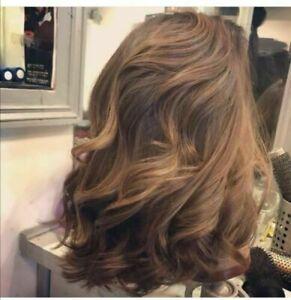 100% Human Hair New Fashio Charm Fluffy Medium Brown Wavy Women's Full Wigs