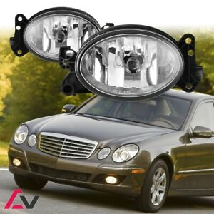 02-15 For Mercedes Benz Clear Lens Pair Bumper Fog Light Lamp OE Replacement DOT
