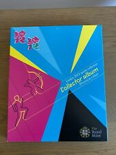 LONDON 2012 OLYMPIC GAMES ROYAL MINT 50p SPORTS ALBUM - Good Condi- NO COINS