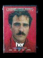 Her (DVD, 2014) A Spike Jonze Love Story Academy Award Winner Brand New & Sealed