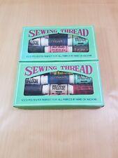 2 vintage scatole di filati PER CUCIRE FACON 100% poliestere, il quilting, patchwork