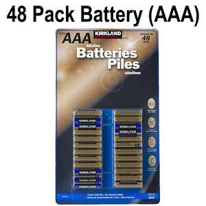 Kirkland Signature Alkaline Piles Long Life Lasting 1.5v AAA Pack of 48 Battery