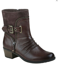 Earth Origins Dolly Womens 9 M Brown Soft Macchiato Leather & Pig Suede BOOTS
