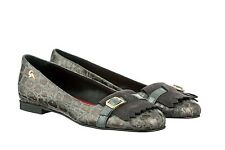 MORI MADE ITALY FLATS SCHUHE SHOES BALLERINA KROCO SUEDE LEATHER GREY GRIGIO 39