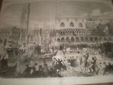Arrival of King Victor Emmanuel at Venice Italy 1866 print ref C
