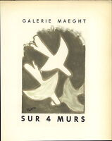 1959 Mini Poster Lithograph ORIGINAL Print Georges Braque On 4 Walls Quatre Murs