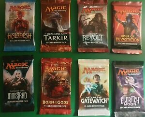 2 x Magic the Gathering Booster Packs Original English Sealed Cards Boosters MTG