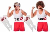 118 0r 192 T Shirt Shorts Socks Wig & Tash (FULL SET) 118  Fancy Dress 80s