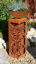 Deko Tisch Beistelltisch Ornamet Gartendeko Metall Rost Edelrost