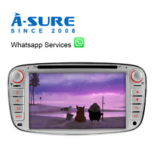 "7""Autoradio GPS DVD Mulitmedia SWC 2018Navi für Ford Mondeo Focus C/S-Max DAB+"