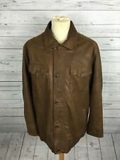 Men's Timberland Fleece Lined Leather Coat - Medium - Brown - Great Condition