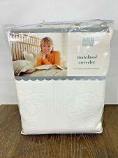 Martha Stewart Queen Matelasse Coverlet White NOS