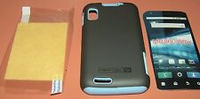 Vertek Hybrid Hard Shell case for Motorola Atrix 4G MB860, Gray Matte & Blue